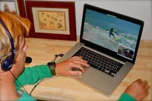 Didier PITER meets you online though a web conferencing platform to analyze your surfing video in detail.
