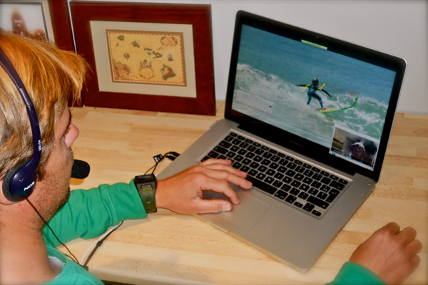 Live surf coaching : le must du coaching vidéo on-line