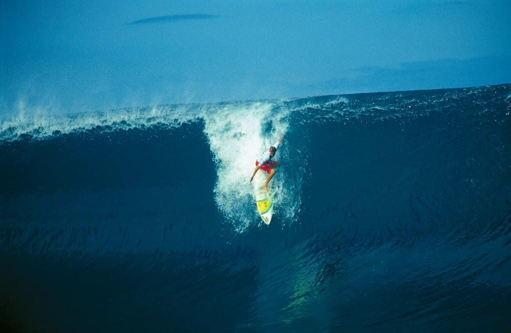 Didier Piter engagement total lors du TahitiPro 1999